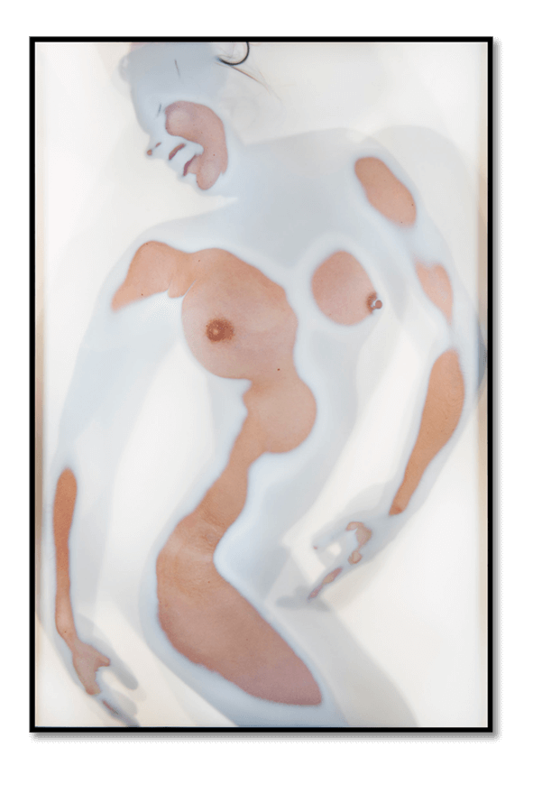 Leon Schroder - Nude On Glass In Milk #1